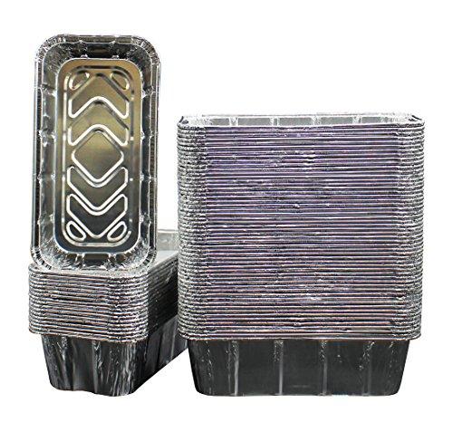 100-Pack of Super-Thick Aluminum 2lb Loaf Baking Pans - Standard Size 8.5