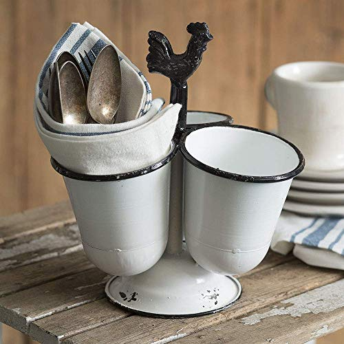 CTW Home Collection Three Cup Rooster Caddy