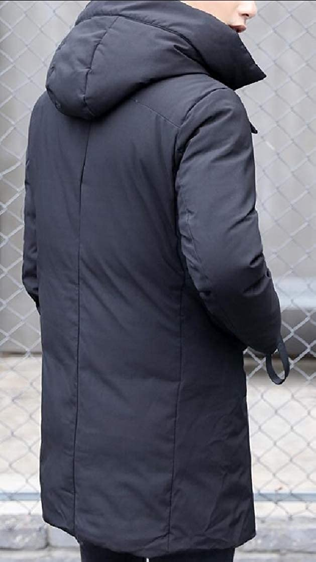 M/&S/&W Mens Down Jacket Casual Loose Hoodie Mid-Long Thicken Outdoor Coat