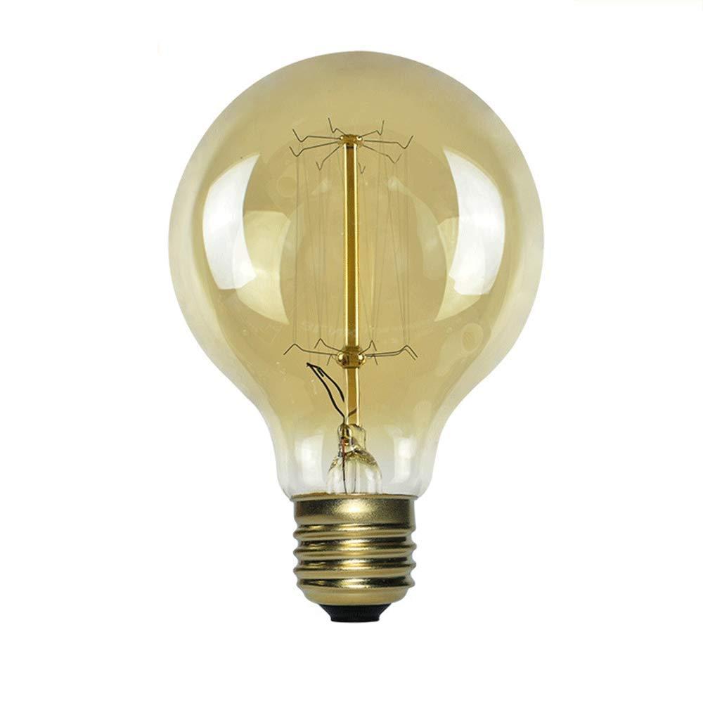 240w E27 Vintage Edison Bulb,st64 A19 T45 G80 G95 C35 G125 Antique Filament Tungsten Incandescent Bulbs for Home Decorative Glass Warm White,AC 220-240 V (Spiral,C35)