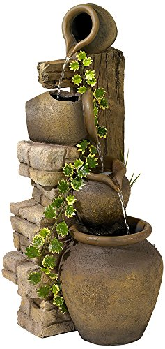 Three Rustic Jugs Cascading 33