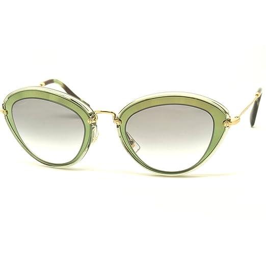 b83231d113b4 Amazon.com  Miu Miu Women s 0MU 51RS Green Grey Gradient Sunglasses ...