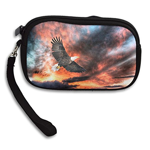 Printing Purse Eagle Portable Deluxe Bag Dark Receiving Clouds Small qRxXaztx