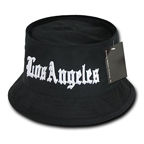 Nothing Nowhere Los Angeles Fisherman Hat, Black, Large/X-Large