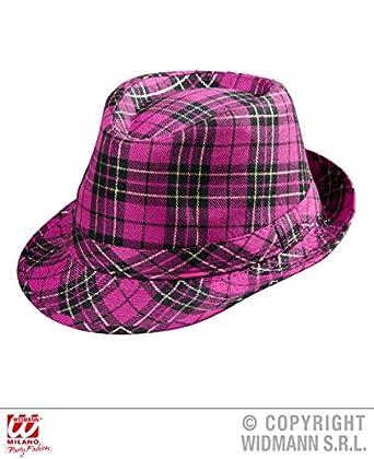 282e1ad072b009 Pink Tartan Fedora Hat for Scotland St Andrews Fancy Dress Accessory:  Amazon.co.uk: Clothing