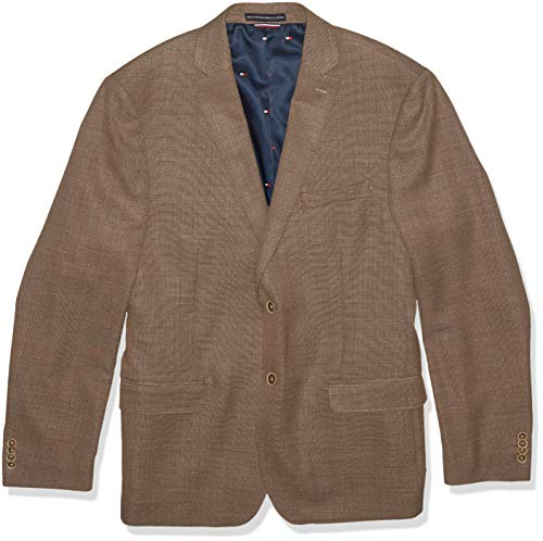 Tommy Hilfiger Men's Big and Tall Modern Blazer, Rustic Brown, 52R - Brown Blazer