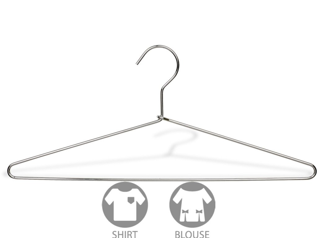 CDM product The Great American Hanger Company Slim Metal Suit Hanger, Box of 50 Thin and Strong Chrome Top Hangers for Shirt and Pants small thumbnail image