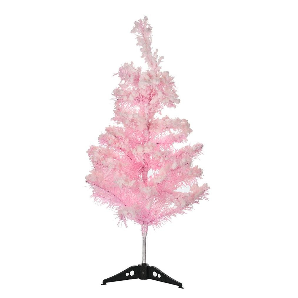 Kanzd Artificial Christmas Tree Holiday Decoration Christmas Party Decor Home Store Decor 24 Inch (Pink)