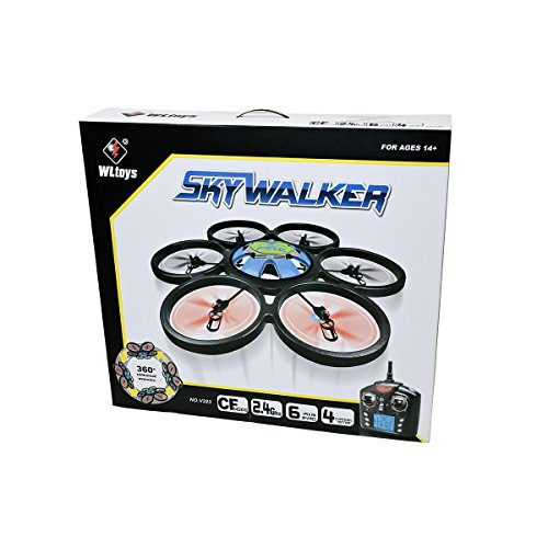 WLToys Hexacopter RC Quadcopter - Skywalker V323 Drone - Six-Motor 2.4GHz 4 Ch 6-Axis (Colors May Vary)