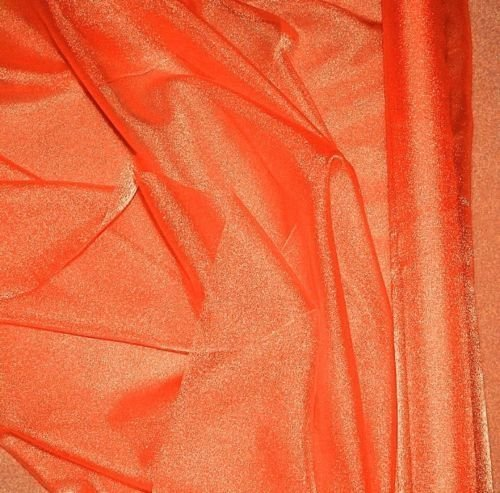Orange Sparkle Organza Fabric 60