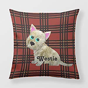 Refiring Throw Pillow Case Covers Plaid Tartan 18 By 18 Pillow Cover