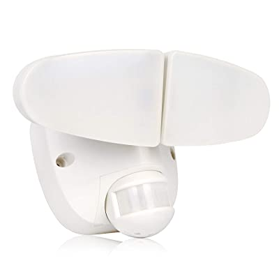 Hykolity 26W PIR Motion Detector LED Security Light, Infrared Motion Sensor 2600lm Outdoor Wall Mount Flood Light for Yard Patio, 5000K Waterproof [150W Equivalent], Adjustable 2 Head ETL Listed