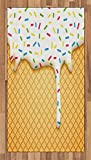 ice cream accent - Ambesonne Food Decor Area Rug, Cartoon like Image of and Melting Ice Cream Cones Colored Sprinkles Art Print, Flat Woven Accent Rug for Living Room Bedroom Dining Room, 2.6 x 5 FT, Multicolor
