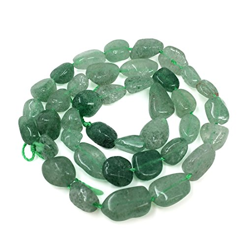 Top Quality Natural Green Strawberry Quartz Gemstone Center Drilled Oval Rice Stone Beads 16