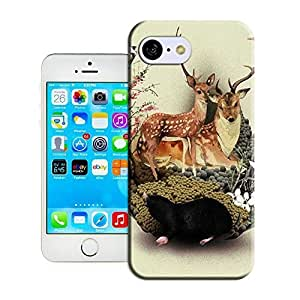 New Fashion Case BreathePattern-The Deer Mother And Her Children Plastic protective case cover-Apple iphone 6 4.7 N2MkAYGkisu case cover
