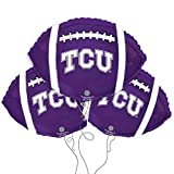 Texas Christian University Logo College Football Mylar Balloon 3 Pack
