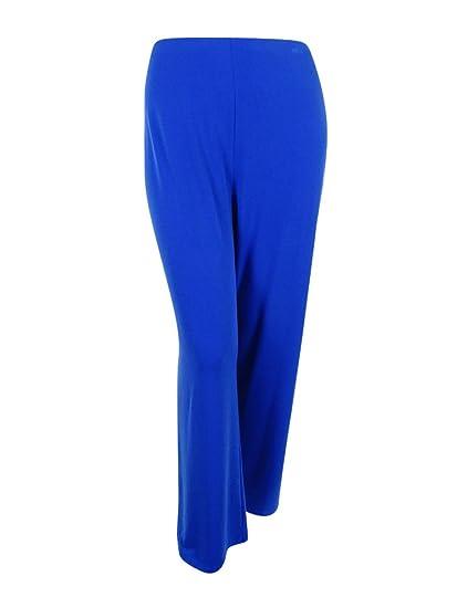 35122dbc9d3 Alfani Plus Size Wide-Leg Soft Pants in Laser Blue at Amazon Women s ...