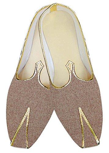 INMONARCH Poliéster de Yute Cobre Hombres Zapatos de Boda MJ015145