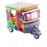 Decorative Miniature Rickshaw Collectible Handmade Truck Art Pakistan Art (6 inch)