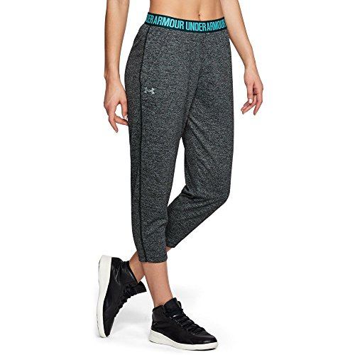 Under Armour Women's Play Up Twist Capris, Black (002)/Metallic Silver, X-Large