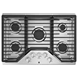 ge 30 gas 5 burner cooktop - GE JGP5030SLSS, 30 Inch Natural Gas Sealed Burner Style Cooktop with 5 Burners, ADA Compliant, in Stainless Steel