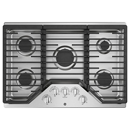 Price comparison product image GE JGP5030SLSS,  30 Inch Natural Gas Sealed Burner Style Cooktop with 5 Burners,  ADA Compliant,  in Stainless Steel
