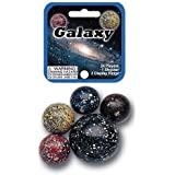 Galaxy Game Net Set 25 Piece Glass Mega Marbles