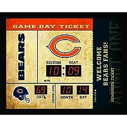 Team Sports America Chicago Bears Bluetooth Scoreboard Wall Clock