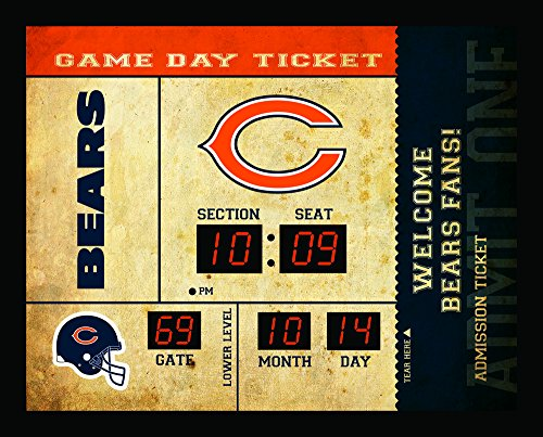 Bears Ncaa Wall Clock - Team Sports America Chicago Bears Bluetooth Scoreboard Wall Clock