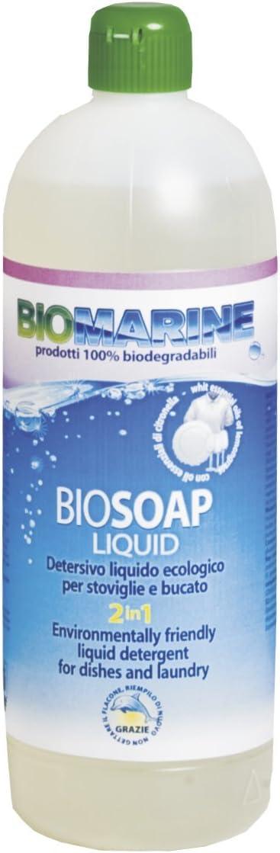 Italia Marine - Jabón ecológico 2 en 1, detergente líquido para ...