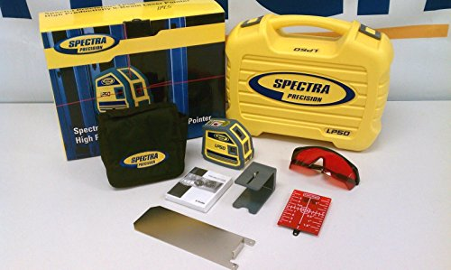 Spectra Precision LP50 Interior Dot Laser Level 5 Beam Point Generator Carrying Case Point - Interior Level