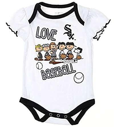 a2d2d9f20c8 Outerstuff MLB Chicago White Sox Baby Girls Infants Peanuts Love Baseball  Creeper