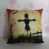 Home Decor Pillow, Gillberry Halloween Pumpkin Square Pillow Cover Cushion Case Pillowcase Zipper Closure (F)