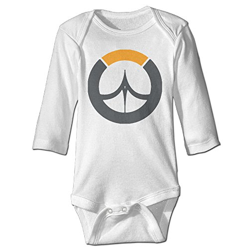 (Deamoon Overwatches Long Sleeve Baby Climbing Clothes White 12)