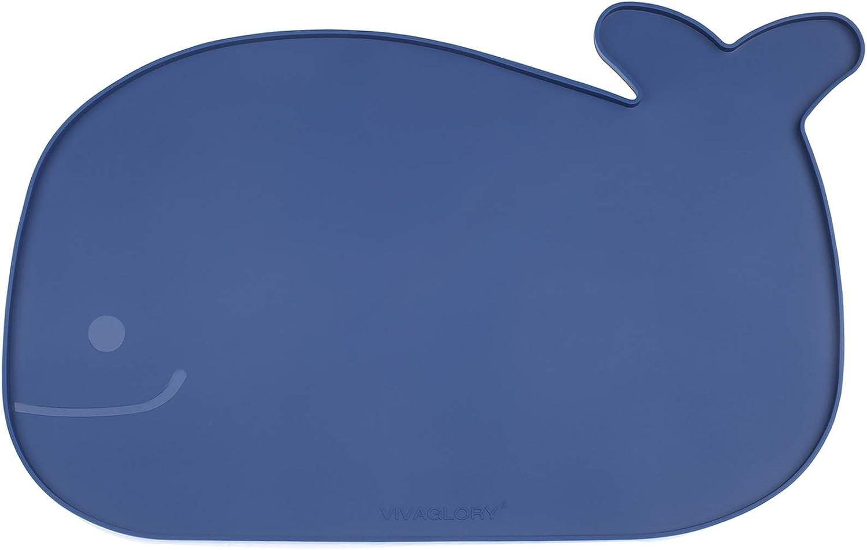 Vivaglory Pet Food Mat with Raised Edge, Large (23.6