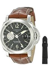Panerai Men's PAM00088 Luminor GMT Black Dial Watch