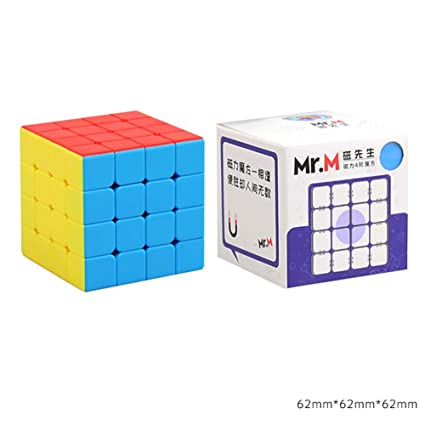 Alician Professional Smooth Magnetic Puzzle Cube Toy Kid Gifts 4*4