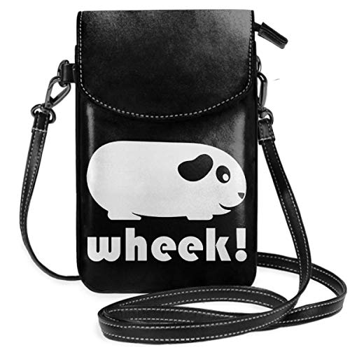 Small Cell Phone Purse For Women Leather Guinea Pig Insides Card Slots Crossbody Bags Wallet With Shoulder Strap