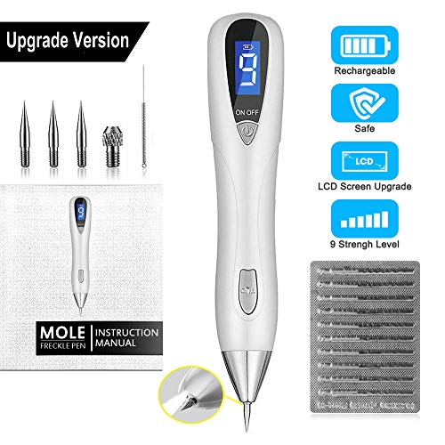 Skin Tag Removal Adjustable 9-Levels with UV LED Spot Pro Pen
