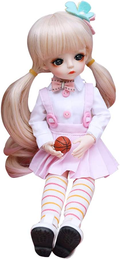 UCanaan BJD Doll, 1/6 SD Dolls 12 Inch 18 Ball Jointed Doll DIY Toys with Full Set Clothes Shoes Wig Makeup, Best Gift for Girls-Nanxun