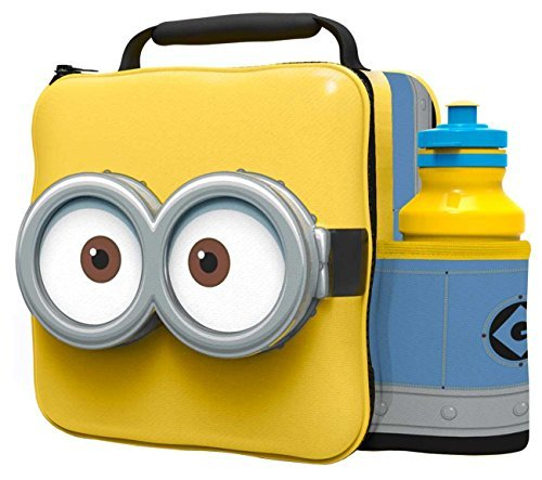 Minions Children 3D Lunch Box Bag With Sport Water Bottle