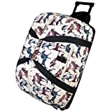 Wildkin Rolling Duffel Bag, Features Telescopic Handle and Moisture-Resistant Lining, Perfect for Sleepovers, Sports Practice, and Travel – Horse Dreams