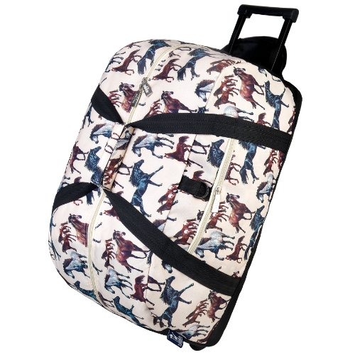 Wildkin Rolling Duffle Bag, Horse Dreams