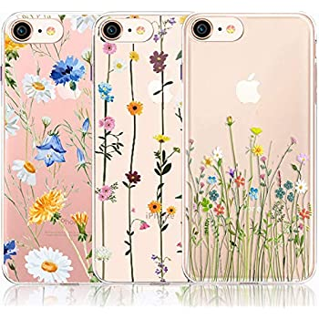 Amazon.com: iPhone 6 6S Case with Flowers, [3-Pack ...