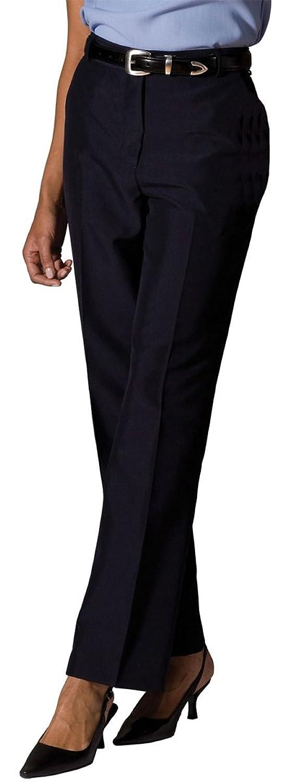 Edwards Garment Women's Lightweight Flat Front Dress Pant, Black, 12 Ul