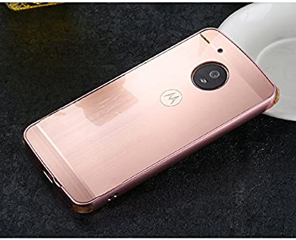 promo code 3610c d5577 D-kandy Luxury Metal Bumper + Acrylic Mirror Back Cover Case For Motorola  Moto G5 Plus - Rose Gold