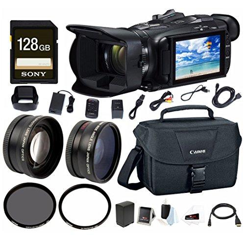 Canon VIXIA HF G40 Full HD 1080p Camcorder w/EOS Shoulder Bag for DSLR Cameras & 128 GB SD Card Bundle by Canon