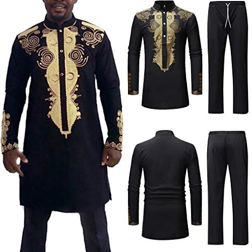 Realdo Mens Long Dashiki Set, 3Pcs Men's West African, used for sale  Delivered anywhere in USA