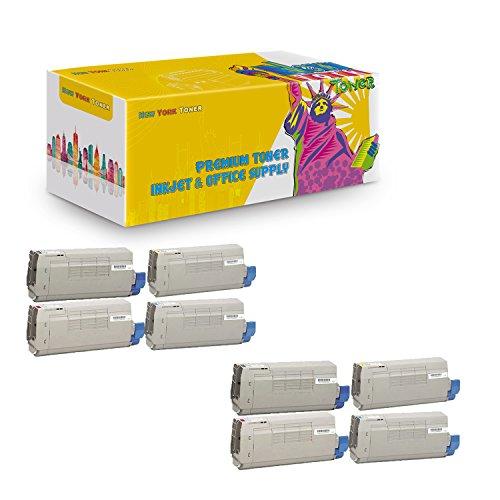 New York TonerTM New Compatible 8 Pack 44318604 44318603 44318602 44318601 High Yield Toner for Oki-Okidata : C711 | C711N | C711DN | C711DTN. --2 Black 2 Yellow 2 Cyan (C711n Led Printer)