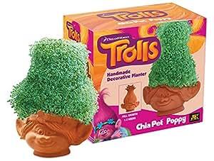 Chia Poppy, Trolls Pottery Planter